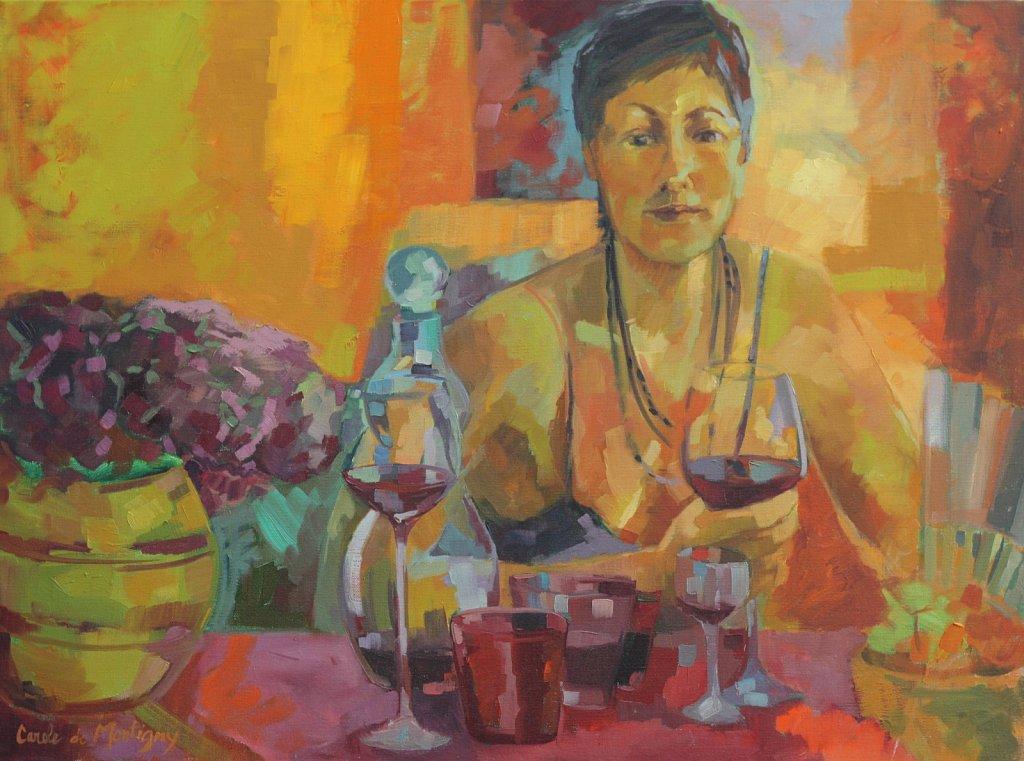 Un bon verre de vin rouge