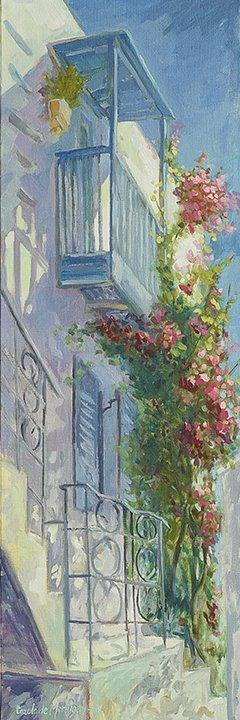 Carole-de-Montigny-Huile-sur-toile-Balcon-a-Mykonos-90x30cm-2018-web.jpg