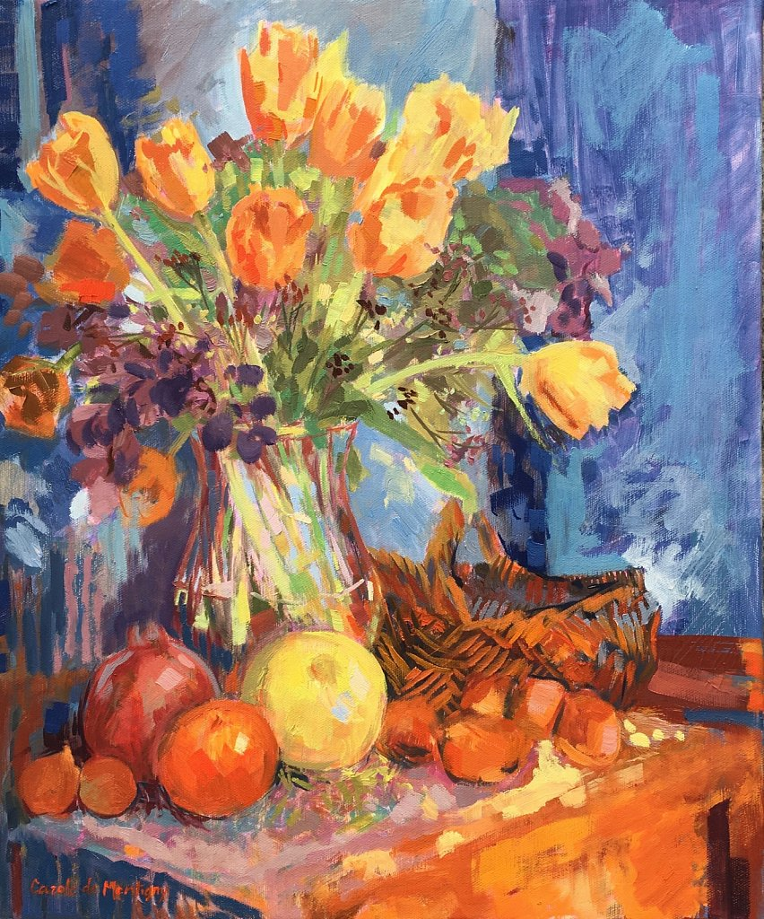 Tulipes et fruits