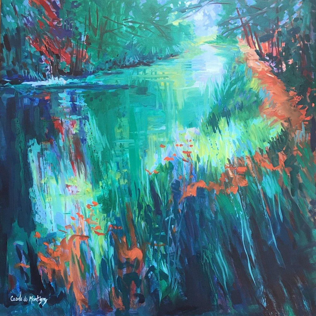 Carole de Montigny-Ombrages sur le Canal du Midi